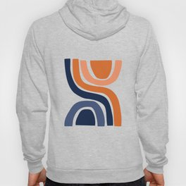 Abstract Shapes 29 in Burnt Orange and Navy Blue Hoody