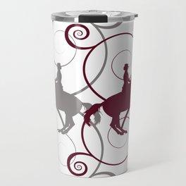 Dressage Horse Swirls Travel Mug