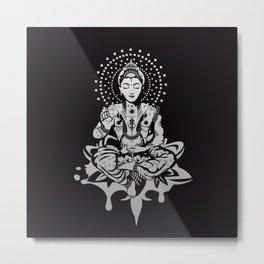 Buddha in lotus position Metal Print
