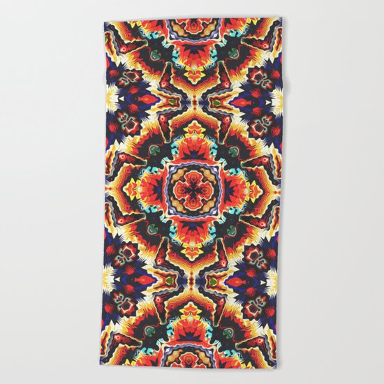 Geometric Motif Beach Towel