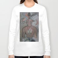 baphomet Long Sleeve T-shirts featuring BAPHOMET 2 by Kathead Tarot/David Rivera