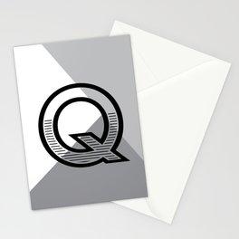 Q monogram no. 1 - angle series Stationery Cards