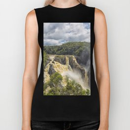 Beautiful wild waterfall Biker Tank