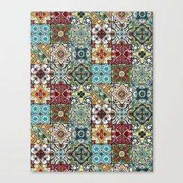 Colorful Spanish Tiles Canvas Print