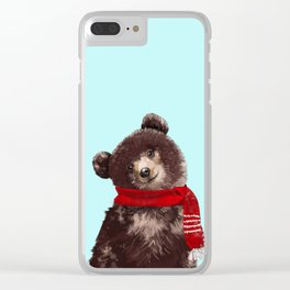 Baby bear in Christmas Mood Clear iPhone Case