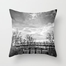 Over the River & Under the Bridge Throw Pillow