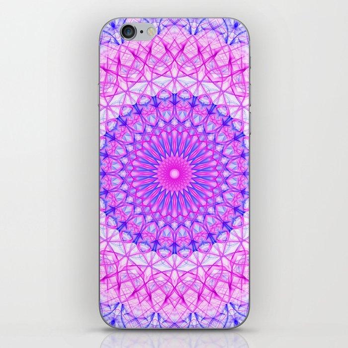 Pretty pink and violet mandala iPhone Skin