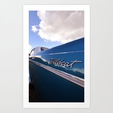 Wildcat - Classic American Blue Car Art Print