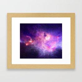 Purple space Framed Art Print
