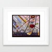 santa monica Framed Art Prints featuring Santa Monica by Ellen November