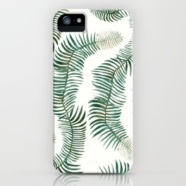 tropical leves wild iPhone Case