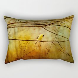Yellow Songbird in Morning Prayer Rectangular Pillow