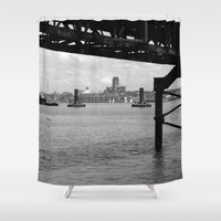 liverpool Shower Curtains featuring Liverpool - An Alternative View by Caroline Benzies Photography