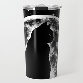 Cat Moon Silhouette Travel Mug