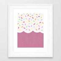 sprinkles Framed Art Prints featuring Sprinkles by Glanoramay