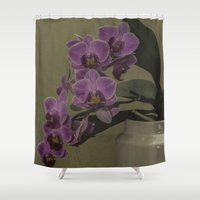 orchid Shower Curtains featuring Orchid by Steve Purnell