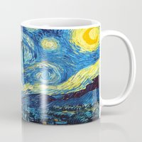 starry night Mugs featuring STARRY by MiliarderBrown