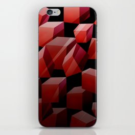 Red Cubes iPhone Skin