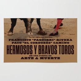 Hermosos y Bravos Toros Rug