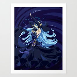 Fire Emblem Fates Azura Art Print