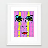 psychology Framed Art Prints featuring Pop Psychology by Keith Cameron