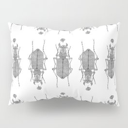 Black and white tiger beetle Pillow Sham