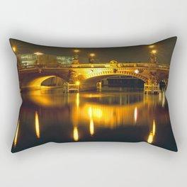 Moltke-Bridge at the river Spree in Berlin Rectangular Pillow