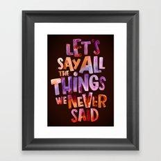 All The Things Framed Art Print