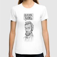 lincoln T-shirts featuring Damn, Lincoln by dellydel