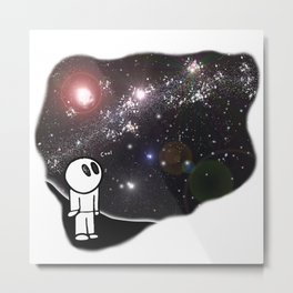Space Guy Metal Print