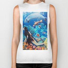 The Little Mermaid Biker Tank
