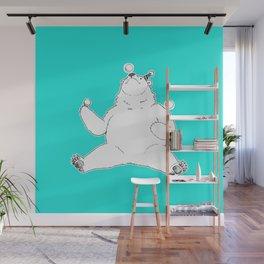 Juggling Bear Wall Mural