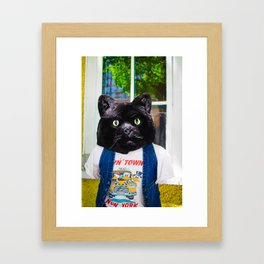 Fashion Cat Framed Art Print