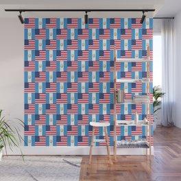 Mix of flag: Usa and Guatemala Wall Mural