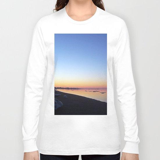 Winter Beach Sunset Long Sleeve T-shirt