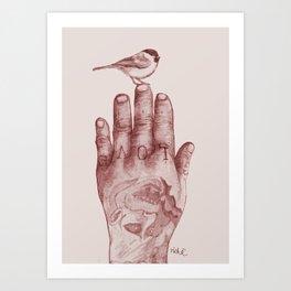 lovehand Art Print