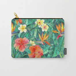 Classic Tropical Garden Carry-All Pouch