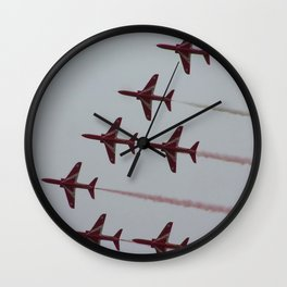 Royal Air Force Fighter Planes In Formation Wall Clock