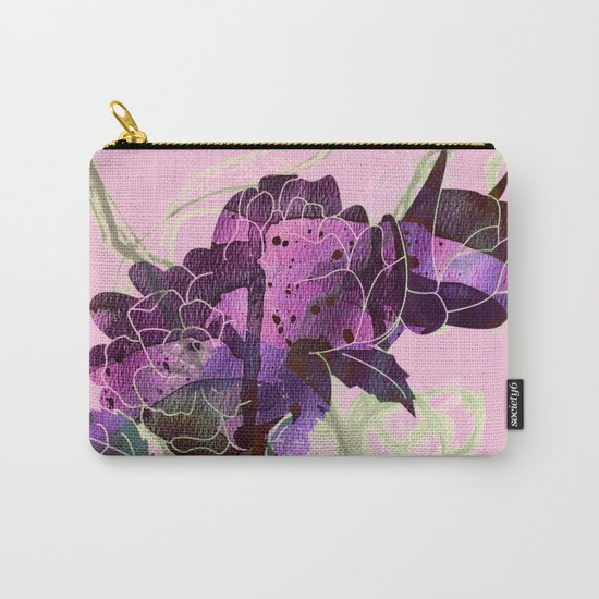 abstract bouquet pink purple Carry-All Pouch