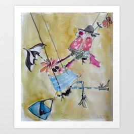 happy swingers Art Print