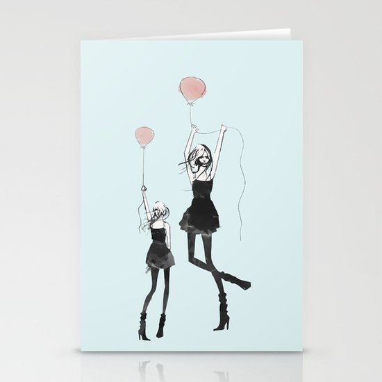 Girls Afloat Stationery Cards