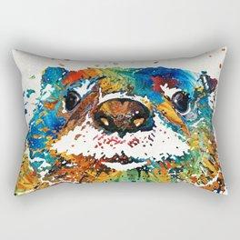 Otter Art - Ottertude - By Sharon Cummings Rectangular Pillow