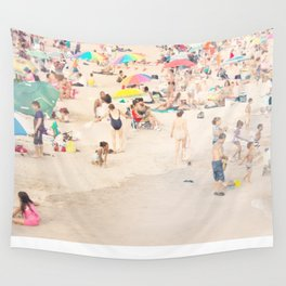 Beach Crowd Wall Tapestry