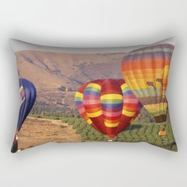 Hot Air Balloons Wine Country Southern California Rectangular Pillow