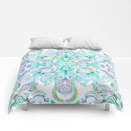 Painted Rainbow Doodles Comforters