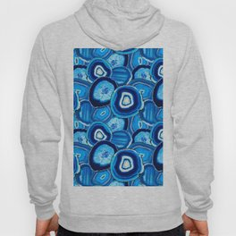 Geode Slices No.1 in Aquamarine + Sapphire Blue Hoody