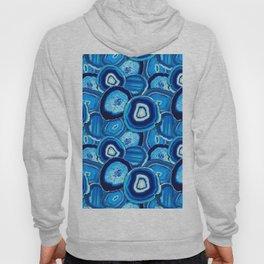 Geode Slices No.1 in Aquamarine + Sapphire Blue Hoody
