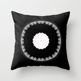Black and White Sun Flower Abstract Throw Pillow