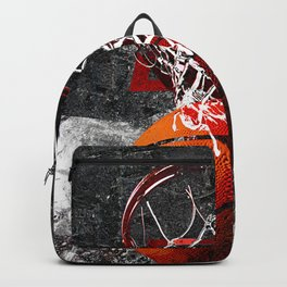Basketball art print swoosh 101 Backpack