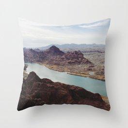 The Colorado River Throw Pillow